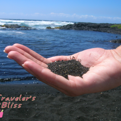 Black Sand Beach in Kona Hawaii
