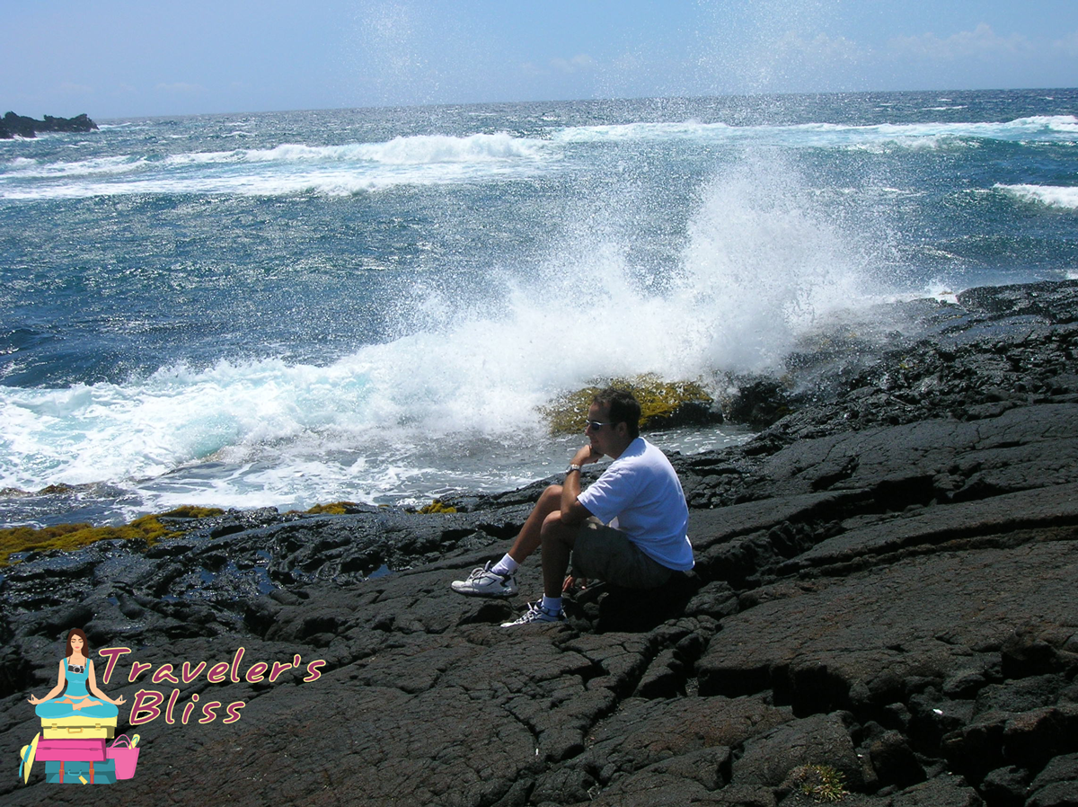 Black Sand Beach in Kona Hawaii