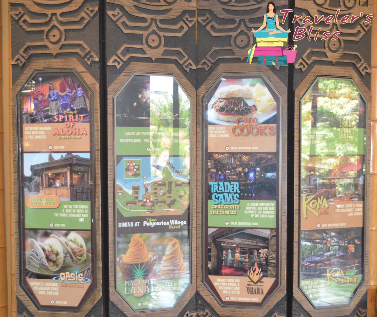 Disney Polynesian Resort Orlando Florida Restaurants