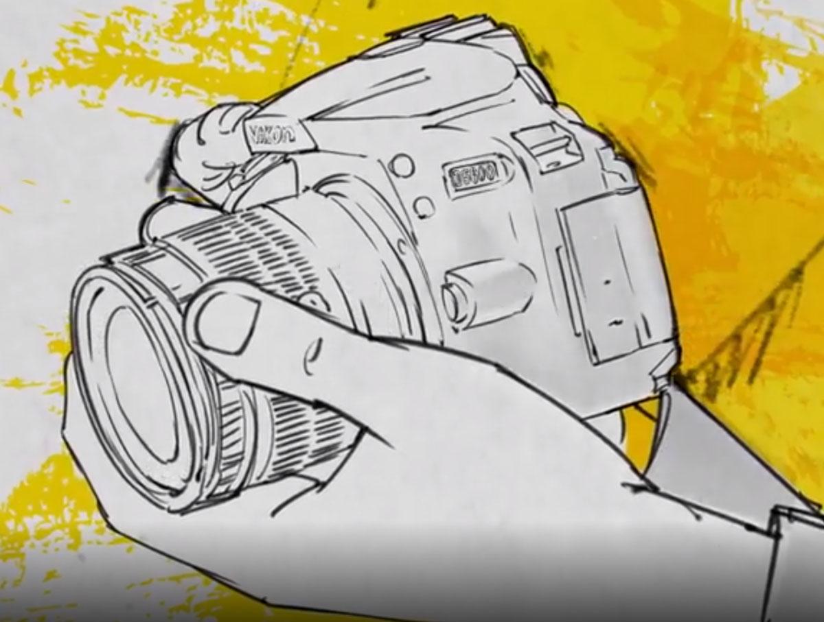 Nikon D5600 Camera Drawing