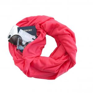 Travel Scarf with Secret Hidden Zipper Pocket